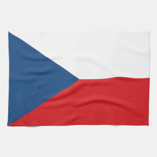 Patriotic Czech Republic Flag Kitchen Towel