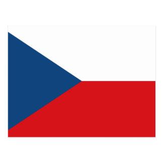 Patriotic Czech Republic Flag Postcard