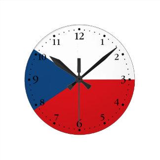 Patriotic Czech Republic Flag Round Clock
