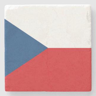 Patriotic Czech Republic Flag Stone Coaster