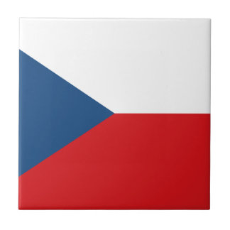 Patriotic Czech Republic Flag Tile