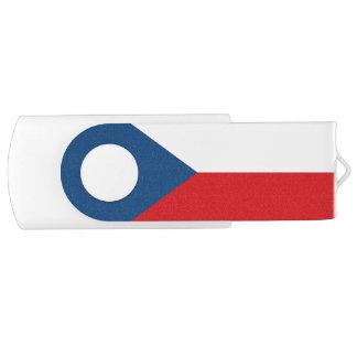 Patriotic Czech Republic Flag USB Flash Drive