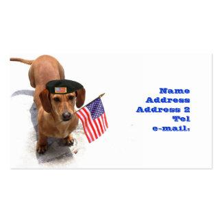Patriotic Dachshund business card