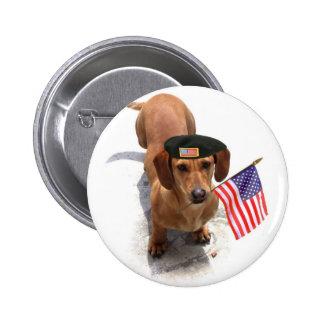Patriotic dachshund button
