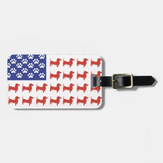 Patriotic Dachshund Doxie Luggage Tag