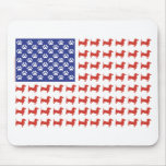 Patriotic Dachshund Doxie Mouse Pad
