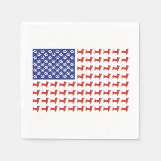 Patriotic Dachshunds Paper Napkins