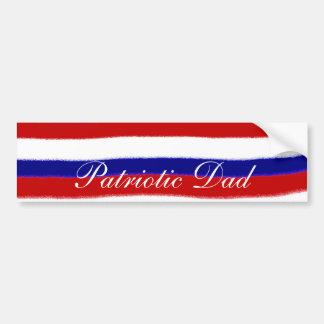 Patriotic Dad Bumper Sticker