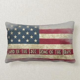 Patriotic Decorative Distressed USA Flag Pillow