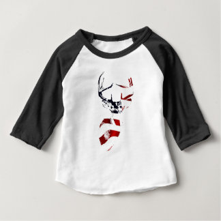 Patriotic Deer Mount Baby Apparel Baby T-Shirt