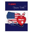Patriotic Design Nurses Week Custom Postcards
