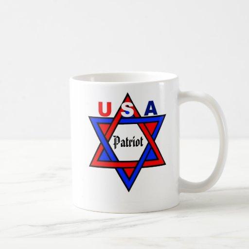 Patriotic design USA/Israel Coffee Mugs
