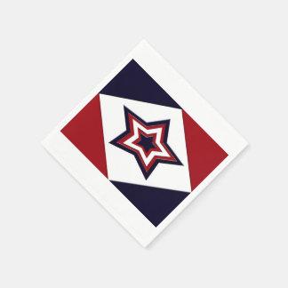 Patriotic Diamond Star Paper Napkins
