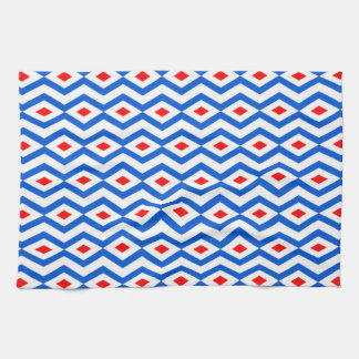 Patriotic Diamond Zigzag Kitchen Towel