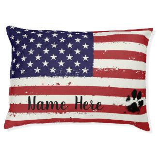 Patriotic Dog Bed - USA Flag Dog Bed