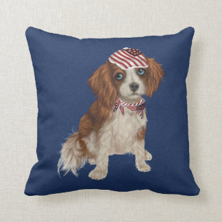 Patriotic Dog Decorative Pillow