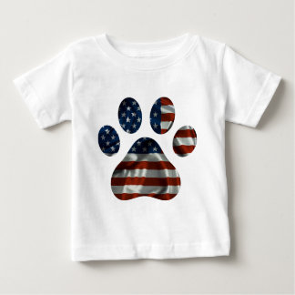Patriotic Dog Paw Design Baby T-Shirt