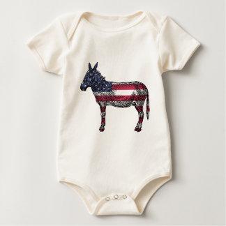 Patriotic Donkey Baby Bodysuit