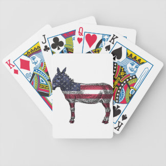 Patriotic Donkey Bicycle Playing Cards