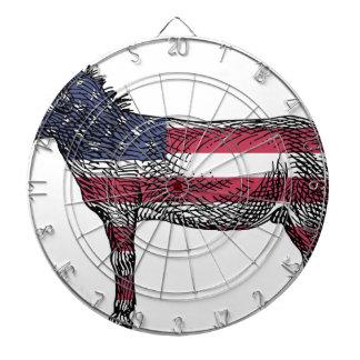 Patriotic Donkey Dartboard