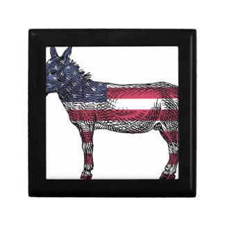 Patriotic Donkey Gift Box
