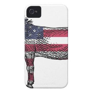 Patriotic Donkey iPhone 4 Case-Mate Case