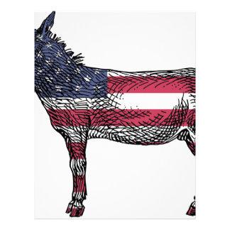 Patriotic Donkey Letterhead