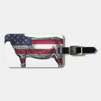 Patriotic Donkey Luggage Tag