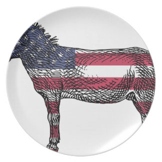 Patriotic Donkey Plate