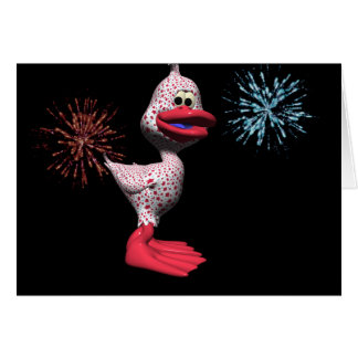 Patriotic Duck Card