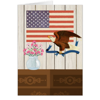 Patriotic Eagle American Flag All Occasion Card