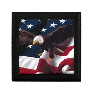 Patriotic Eagle American Flag Gift Box