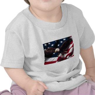 Patriotic Eagle American Flag T Shirts