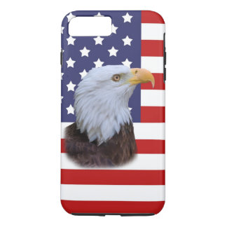 Patriotic  Eagle and USA Flag  Customizable iPhone 7 Plus Case