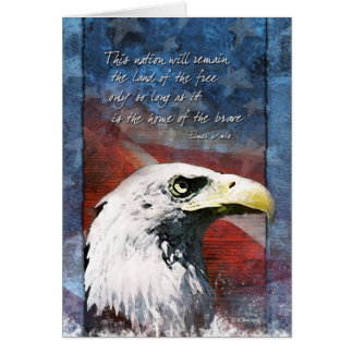 Patriotic Eagle Card