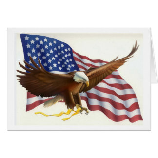 Patriotic Eagle Flag Greeting Card