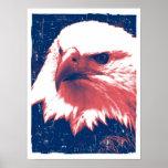 Patriotic Eagle - Grunge Art