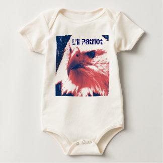 Patriotic Eagle - Grunge Art Baby Bodysuit