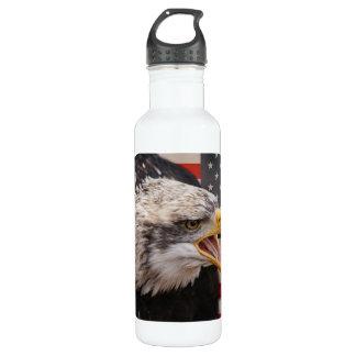 Patriotic Eagle Image 24oz Water Bottle