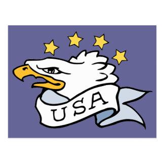 Patriotic Eagle Postcard