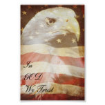 Patriotic Eagle Poster