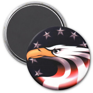 Patriotic Eagle Stars and Stripes Magnet