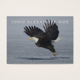 Patriotic Eagle Taking Flight - Two Sided custom Business Card