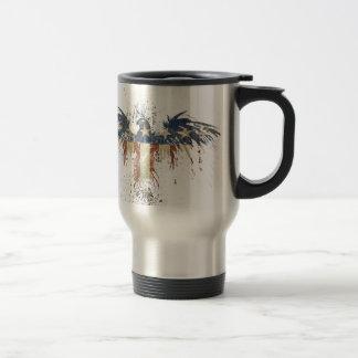 Patriotic eagle, US/USA, SAD flag Travel Mug