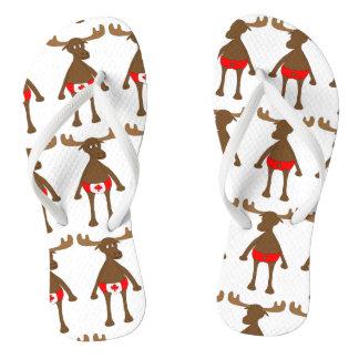 Patriotic, Eh? Moose Flip Flops