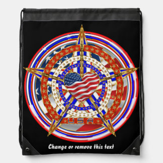 Patriotic Election Runner Fundraier View Hints Drawstring Bag