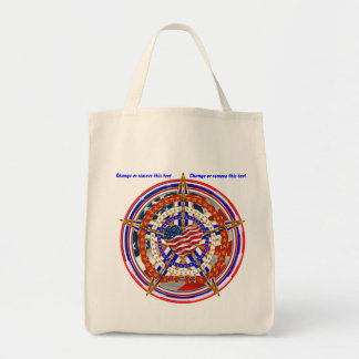 Patriotic Election Veteran View About Design Grocery Tote Bag