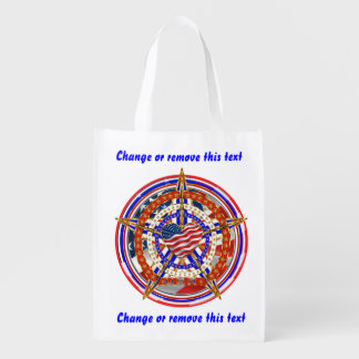 Patriotic Election View About Design Grocery Bags