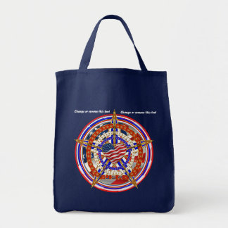 Patriotic Election View About Design Grocery Tote Bag