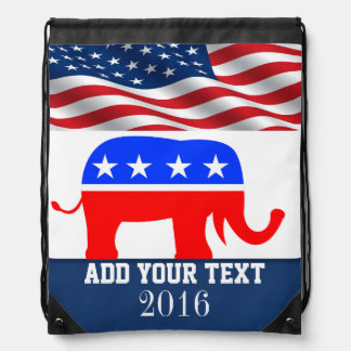 Patriotic / Elections American Flag Back Pack Cinch Bags